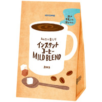 【インスタントコーヒー】キーコーヒー みんなで楽しむインスタントコーヒー マイルドブレンド 1箱(200g×12袋入)