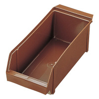 SAオーガナイザーボックス (抗菌) ブラウン EOC106A 1セット(3個入) TKG 遠藤商事 (取寄品)