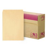 アスクル オリジナルクラフト封筒 角3 茶 1200枚(200枚×6箱)