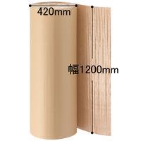 川上産業 片段プチ 幅1200mm×30m巻 茶 カタプチ37+0 1セット(3巻:1巻×3)