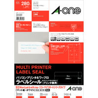 エーワン パソコン&ワープロラベルシール 表示・宛名ラベル プリンタ兼用 マット紙白 A4 14面 1セット:1袋(20シート入)×2袋 28189(取寄品)