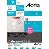 エーワン ラベルシール パッケージラベル インクジェット 光沢フィルム 白 A4 ノーカット1面 1袋(10シート入)×2袋 28797(取寄品)