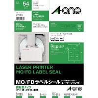 エーワン ラベルシール 表示・宛名ラベル レーザープリンタ マット紙 白 A4 6面 1セット:1袋(9シート入)×2袋 29080(取寄品)