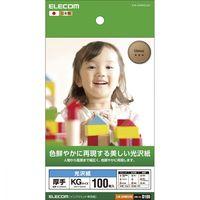 エレコム 光沢写真用紙 光沢紙厚手 KG 100枚 EJK-GANKG100 (直送品)