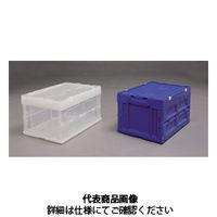 アイリスオーヤマ(IRIS OHYAMA) ハード折りたたみコンテナフタ一体型 HDOH-40L ブルー HDOH-40Lブルー 1台 (直送品)