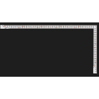 シンワ測定 曲尺厚手広巾 ホワイト 表裏同目 8段目盛 呼寸 52cm 11161 1本 (取寄品)