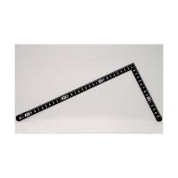 シンワ測定 曲尺小型 サンデーカーペンター 黒 裏面角目 白目盛 呼寸 33×15cm 12416 1本 (取寄品)