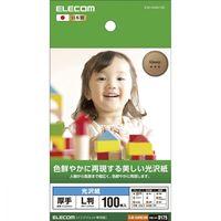エレコム 光沢写真用紙/光沢紙厚手/L判/100枚 EJK-GANL100 (直送品)