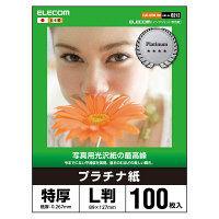 【×5セット】 L判サイズ100枚入り インクジェット用片面光沢紙 (まとめ) サンワサプライ JP-EK8L