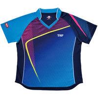 レディスルーチェシャツ XXO ブルー 1枚 TSP 032412 0120 ヤマト卓球