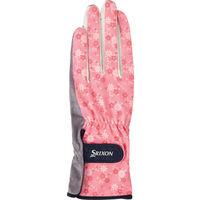 SRIXON(スリクソン) 【レディース テニス用手袋】 UVカット グローブ 両手セット レディス S ピンク 1セット (取寄品)