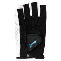 SRIXON(スリクソン) メンズ シリコンプリントグローブ ハーフタイプ(両手セット) M ブラツク 1セット DUN SGG2590 081(取寄品)