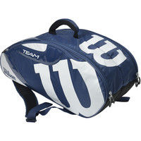 Wilson(ウイルソン) 【男女兼用 テニス用ラケットバッグ】 TEAM J 6PACK ネイビー×ホワイト  マルチ 1個 (取寄品)