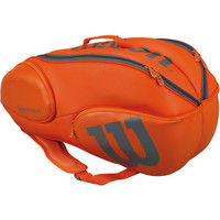 Wilson(ウイルソン) 【テニス用ラケットバッグ】 BURN & BLADE 9PACK オレンジ×グレー  マルチ 1個 (取寄品)