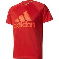 【メンズ トレーニングウェア】 D2M トレーニングビッグロゴTシャツ J/O レッド 1枚 ADJ BVA79 BK0934 adidas (取寄品)