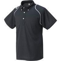 ボタンダウンポロシャツ DTM-4600 L ブラック 1枚 DS DTM4600 BLK デサント (取寄品)