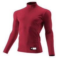 ジュニア ハイネック長袖リラックスFITシャツ 160 エンジ 1枚 DS JSTD750 ENG デサント(取寄品)
