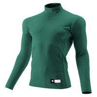 ジュニア ハイネック長袖リラックスFITシャツ 150 Dグリーン 1枚 DS JSTD750 DGRN デサント(取寄品)