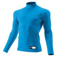 ジュニア ハイネック長袖リラックスFITシャツ 130 ブルー 1枚 DS JSTD750 BLU デサント(取寄品)