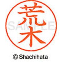 シャチハタ ネームペン用ネーム シルバー 既製 荒木 X-GPS 0107 アラキ 1個 (取寄品)