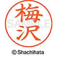 シャチハタ ネームペン用ネーム シルバー 既製 梅沢 X-GPS 0394 ウメザワ 1個(取寄品)