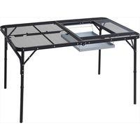 YAMAZEN CampersCollection(キャンパーズコレクション) BBQタフライトテーブル 1220×810mm ブラック (直送品)