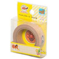 サンスター文具 マスキングテープ15mmアンパンマンスマイルプラスベージュ 3920010D 5個 (直送品)