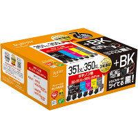 プレジール 互換インク PLE-C351XL6P+BK 1パック(7個入)(大容量6色パック+ブラック(大容量) BCI-350/351シリーズ