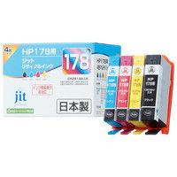 ジット リサイクルインク JIT-H1784P 1パック(4色入)(HP HP178 CR281AA互換)