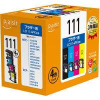 プレジール 互換インク PLE-BR1114P 1パック(4色入)(ブラザー LC111-4PK互換)