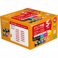 プレジール 互換インク PLE-CB3215P 1パック(5色入)(キヤノン BCI-321+320/5MP互換)