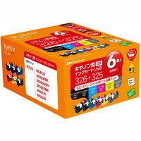 プレジール 互換インク PLE-CB3266P 1パック(6色入)(キヤノン BCI-326+325/6MP互換)