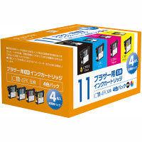プレジール 互換インク PLE-BR114P 1パック(4色入)(ブラザー LC11-4PK互換)