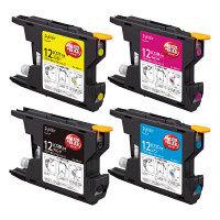 プレジール 互換インク PLE-ZBR124P 1パック(大容量4色入)(ブラザー LC12-4PK互換)