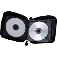 エレコム CD/DVDケース セミハード ファスナー付 24枚入 ブラック CCD-H24BK