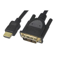 Vodaview 変換ケーブル HDMI[オス]-DVI-D24ピン[オス] 3m/ブラック VV-HDDV030CA-B
