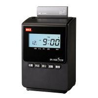 マックス 電波時計タイムレコーダER-110S5CWブラック ER90166