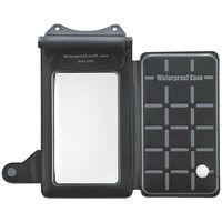 サンワサプライ 小物ポケット付きスマートフォン用防水ケース ブラック 防水対応(IP8X相当)/5.5インチまで対応 PDA-AS1WP