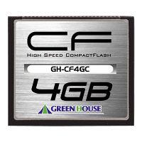 グリーンハウス コンパクトフラッシュ 4GB GH-CF4GC