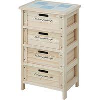 木製4段ボックス HF05-003(N) ナチュラル 幅400×奥行300×高さ670mm 68094 1台 不二貿易 (直送品)