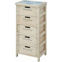 木製5段ボックス HF05-004(N) ナチュラル 幅400×奥行300×高さ820mm 68095 1台 不二貿易 (直送品)