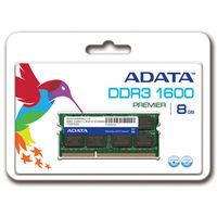 ADATA メモリ 8GB DDR3 SOーDIMM (1600) ー512x8 リテールパッケージ AD3S1600W8G11-R 1箱  (直送品)