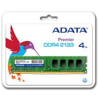ADATA メモリ 4GB DDR4 2133 288pin Unbuffered DIMM リテールパッケージ AD4U2133W4G15-R  (直送品)