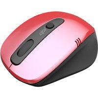 ユニーク 4ボタン DPIボタン付き ワイヤレスマウス レッド BIM318GRD 1個  (直送品)