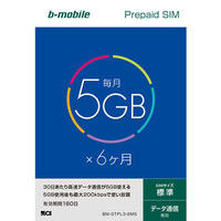 日本通信 bーmobile 5GB×6ヶ月SIMパッケージ(標準SIM) BM-GTPL3-6MS 1個  (直送品)