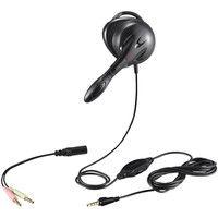 バッファロー 片耳 耳掛け式ヘッドセット 4極&3極プラグ搭載 ブラック BSHSECM01BK 1台  (直送品)