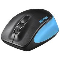 バッファロー 無線 BlueLED 3ボタン プレミアムフィットマウス ブルー BSMBW300MBL 1台  (直送品)