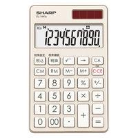 シャープ 電卓 10桁 (手帳タイプ) シャンパンゴールド EL-VW31-NX 1台  (直送品)