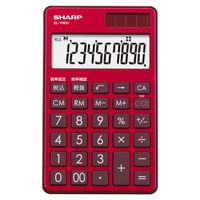 シャープ 電卓 10桁 (手帳タイプ) スタイリッシュレッド EL-VW31-RX 1台  (直送品)