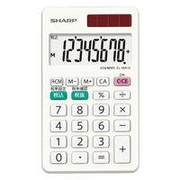 シャープ 電卓 8桁 (ハンディ・手帳タイプ) EL-WA10-X 1台(直送品)